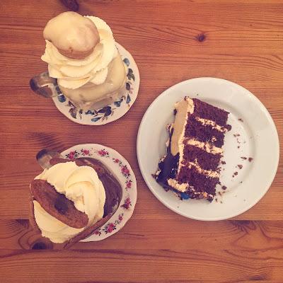 cake and milkshake